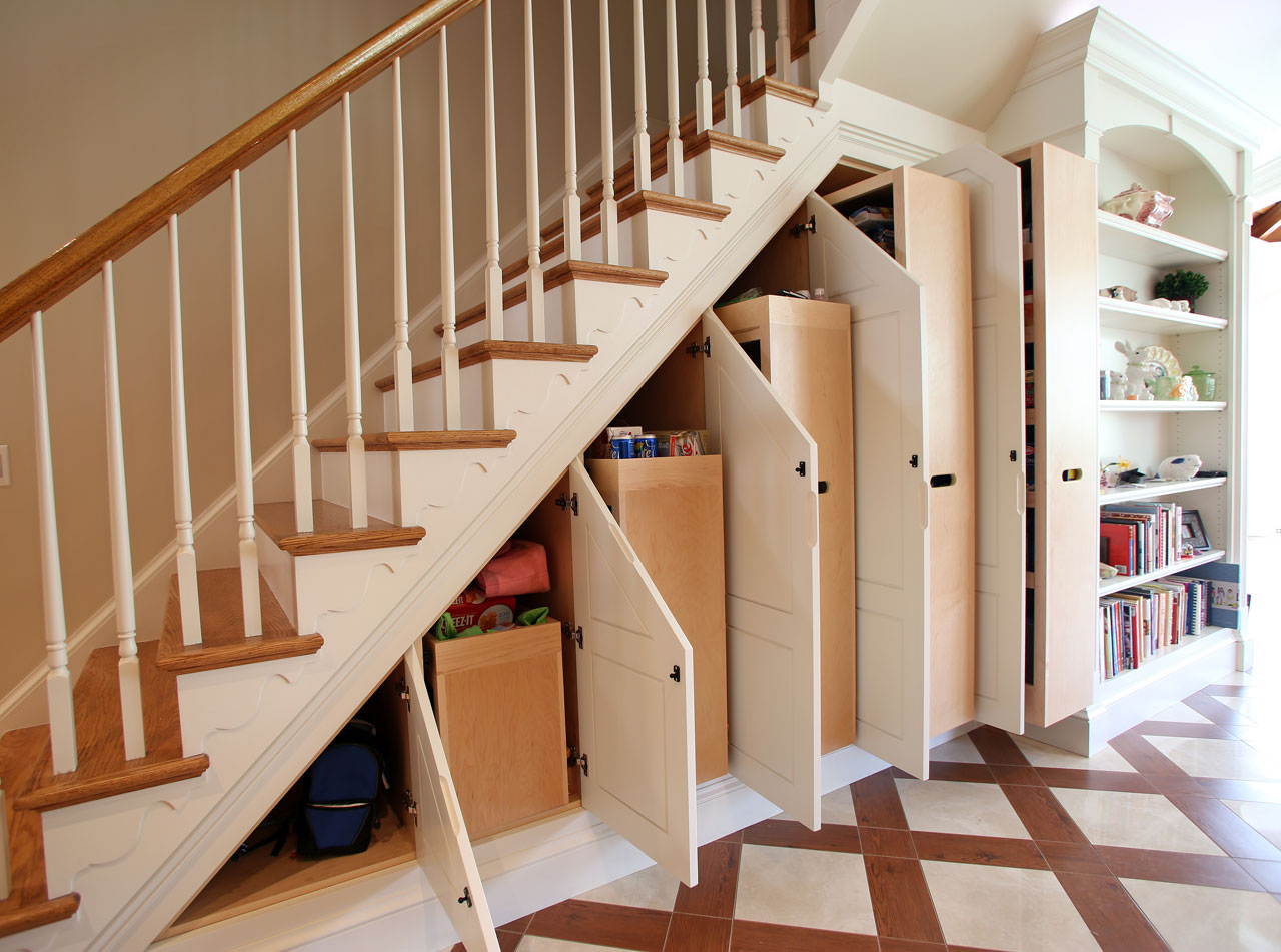Under Stair Storage Miles Enterprises Fine Custom Cabinetry In